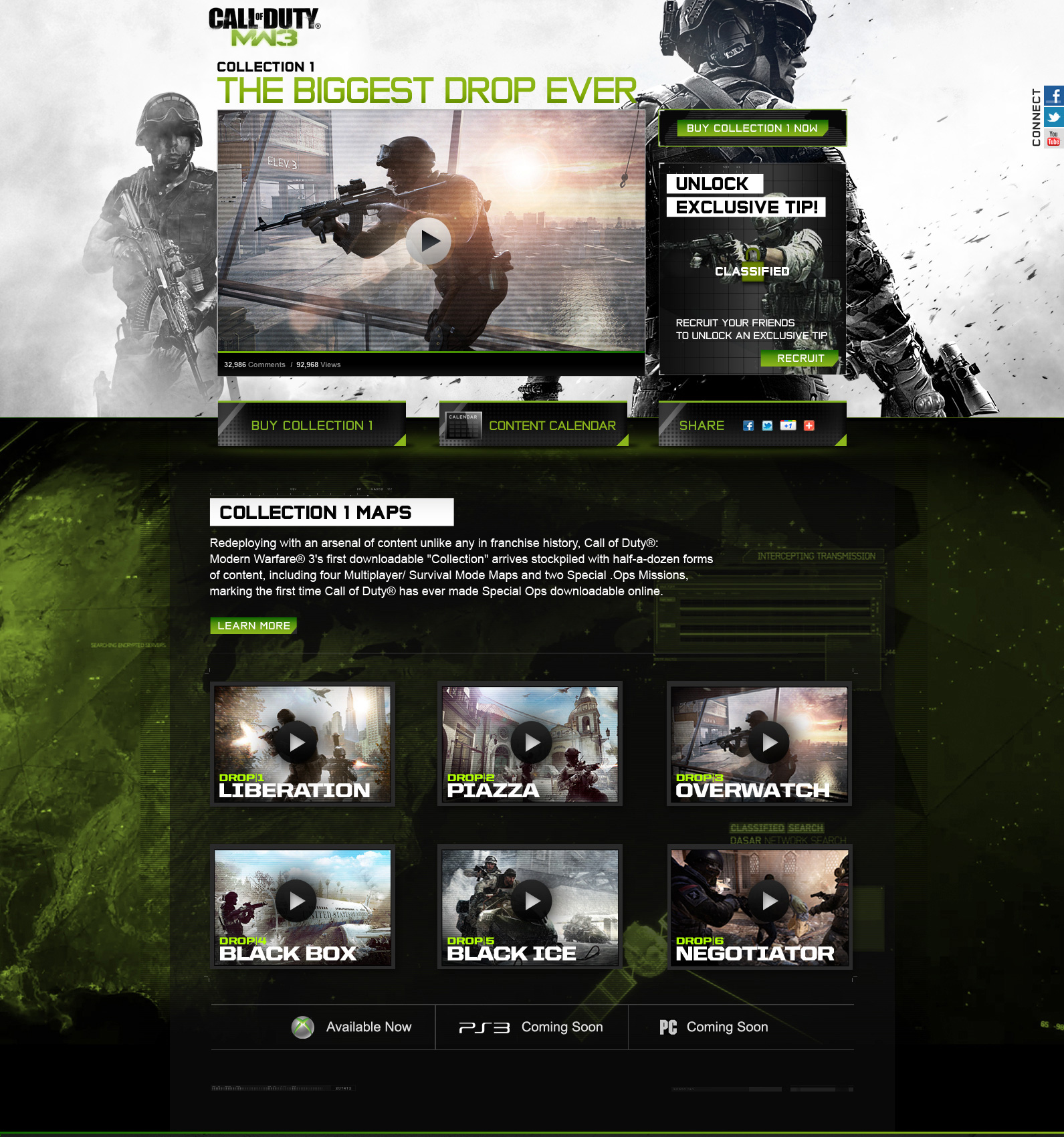 Call of Duty collections site