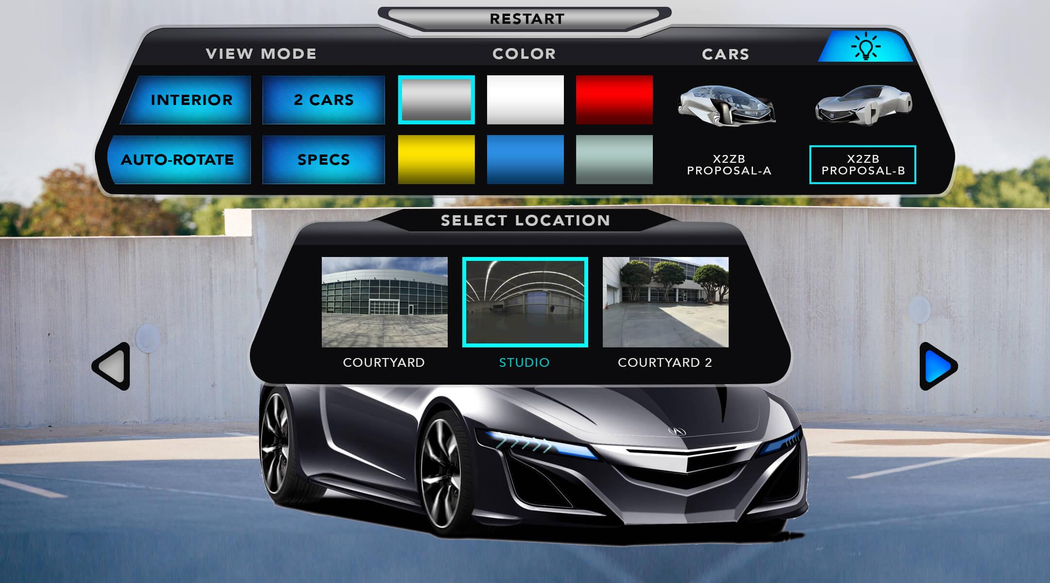 AR CAR CONFIGURATOR UI 03.1