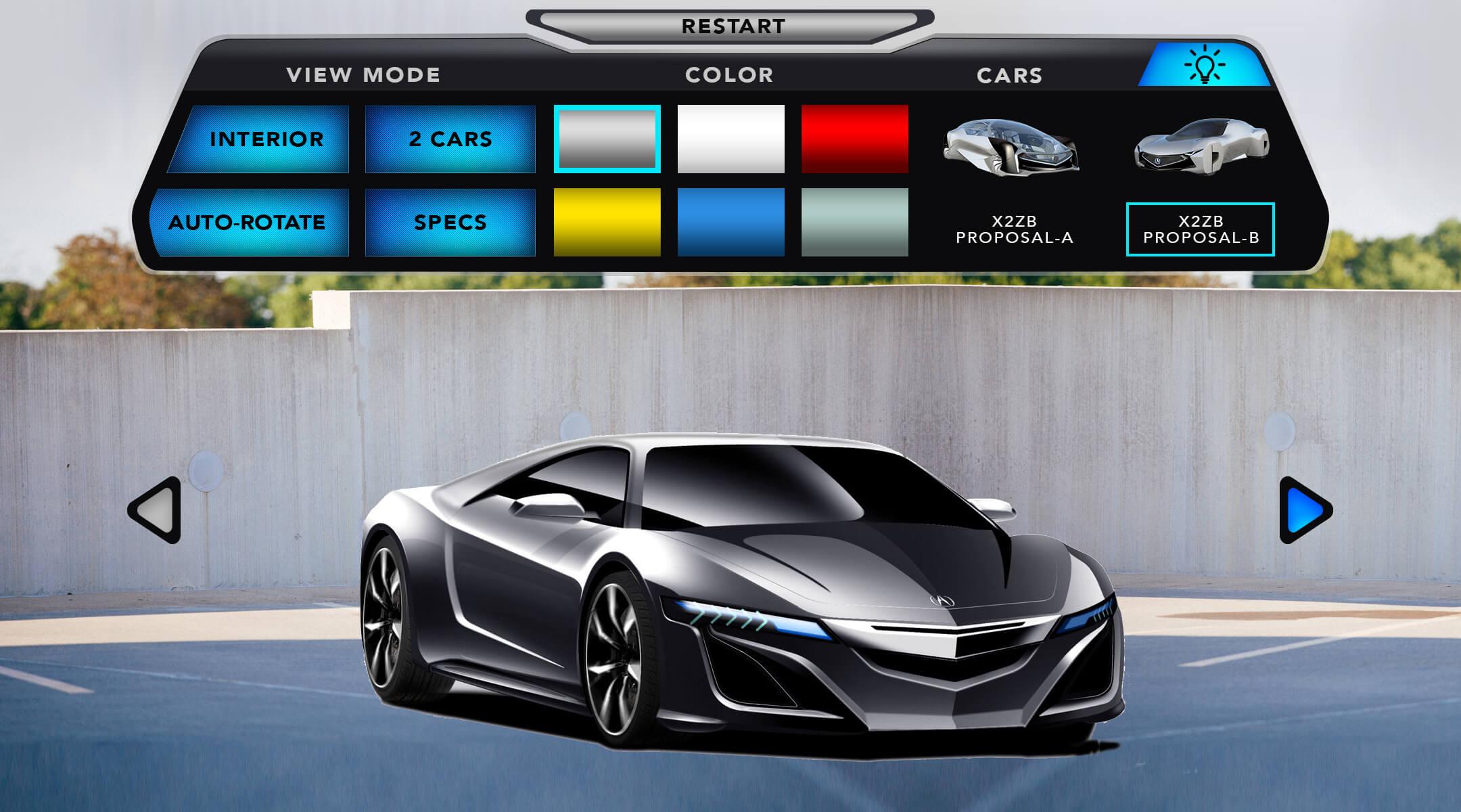 AR CAR CONFIGURATOR UI 03.2