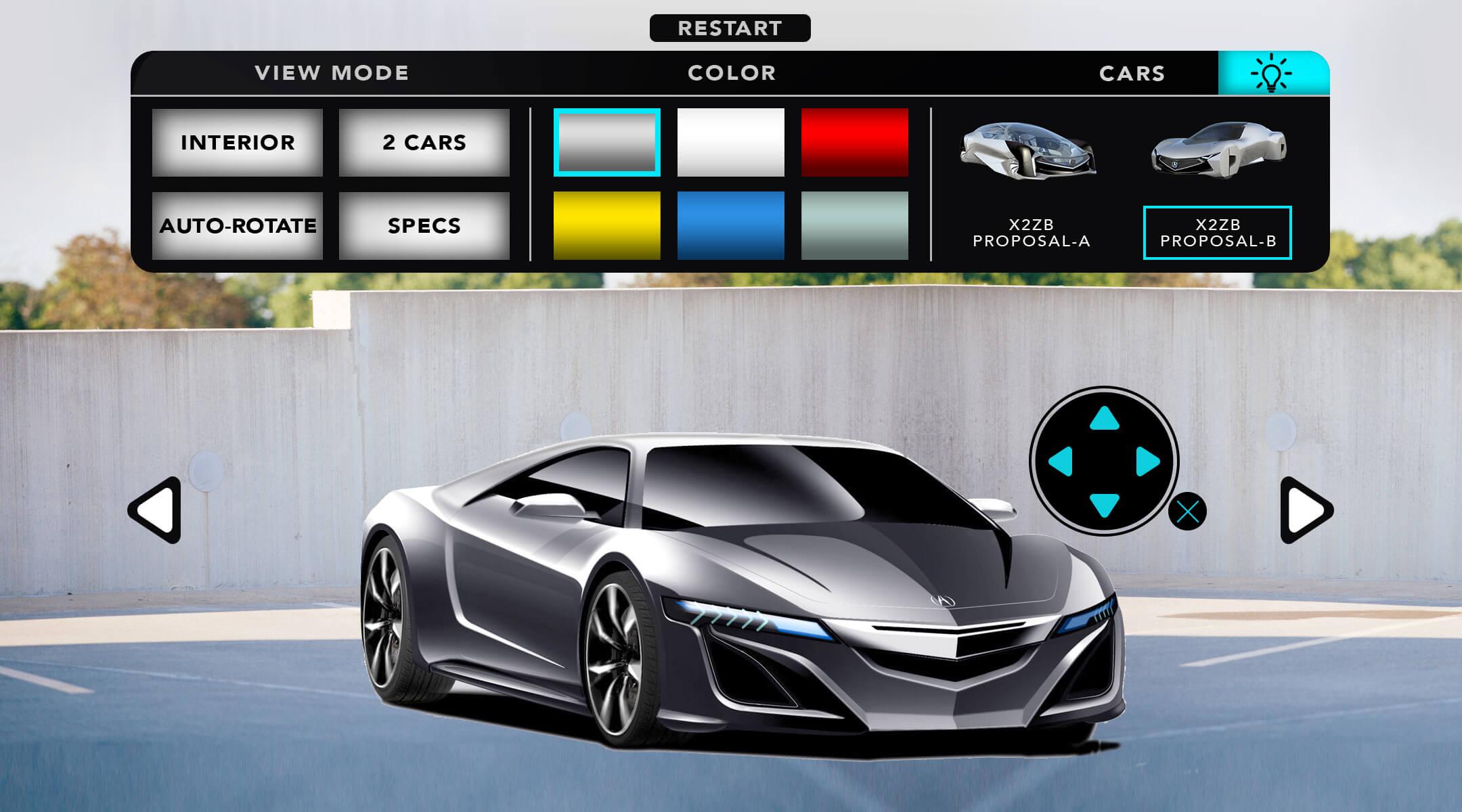 AR CAR CONFIGURATOR UI version03.3